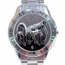 AC DC Cannon Logo Unisex Stainless Steel Analogue Watch