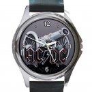 AC DC Cannon Logo Unisex Round Metal Watch