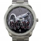 AC DC Cannon Logo Unisex Sport Metal Watch