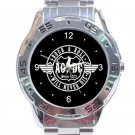 AC DC Rock & Roll Will Never Die Unisex Stainless Steel Analogue Watch