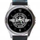 AC DC Rock & Roll Will Never Die Unisex Round Metal Watch
