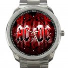 AC DC Red Logo Unisex Sport Metal Watch