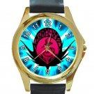 Air Gear Kogarasumaru Anime Logo Unisex Round Gold Metal Watch