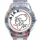 AFC Ajax Amsterdam Logo Stainless Steel Analogue Watch
