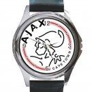 AFC Ajax Amsterdam Logo Unisex Round Metal Watch