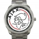 AFC Ajax Amsterdam Logo Unisex Sport Metal Watch