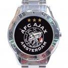 AFC Ajax Amsterdam Football Club Logo Unisex Stainless Steel Analogue Watch