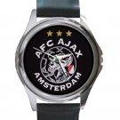 AFC Ajax Amsterdam Football Club Logo Unisex Round Metal Watch
