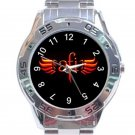AFI A Fire Inside Rock Band Logo Unisex Stainless Steel Analogue Watch