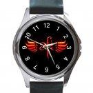 AFI A Fire Inside Rock Band Logo Unisex Round Metal Watch