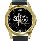AFI Sing the Sorrow Logo Unisex Round Gold Metal Watch