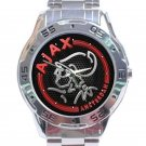Ajax Amsterdam Unique Red Logo Unisex Stainless Steel Analogue Watch