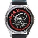 Ajax Amsterdam Unique Red Logo Unisex Round Metal Watch