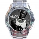 Singer Akon Rapper Unisex Stainless Steel Analogue Watch