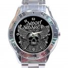 Amon Amarth Skull and Axes Unisex Stainless Steel Analogue Watch