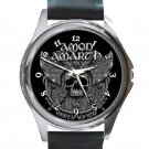 Amon Amarth Skull and Axes Unisex Round Metal Watch