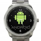Android Green Logo Unisex Sport Metal Watch