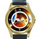 Angels & Airwaves Star Of Bethlehem Logo Unisex Round Gold Metal Watch