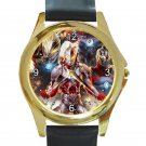 Ultraman Unisex Round Gold Metal Watch