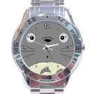 Cute Totoro's Face Unisex Stainless Steel Analogue Watch