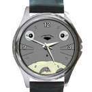 Cute Totoro's Face Unisex Round Metal Watch