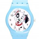 102 Dalmatians Cute Happy Puppy ICE Style Round TPU Medium Sports Watch-Blue