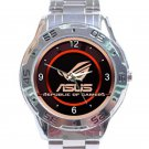 ASUS Republic Of Gamers Round Logo Unisex Stainless Steel Analogue Watch