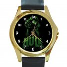 The Incredible Hulk's Hand Unisex Round Gold Metal Watch