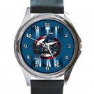 Captain America Avengers Logo Unisex Round Metal Watch