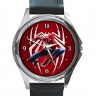 Amazing Spider-Man Movie Logo Unisex Round Metal Watch