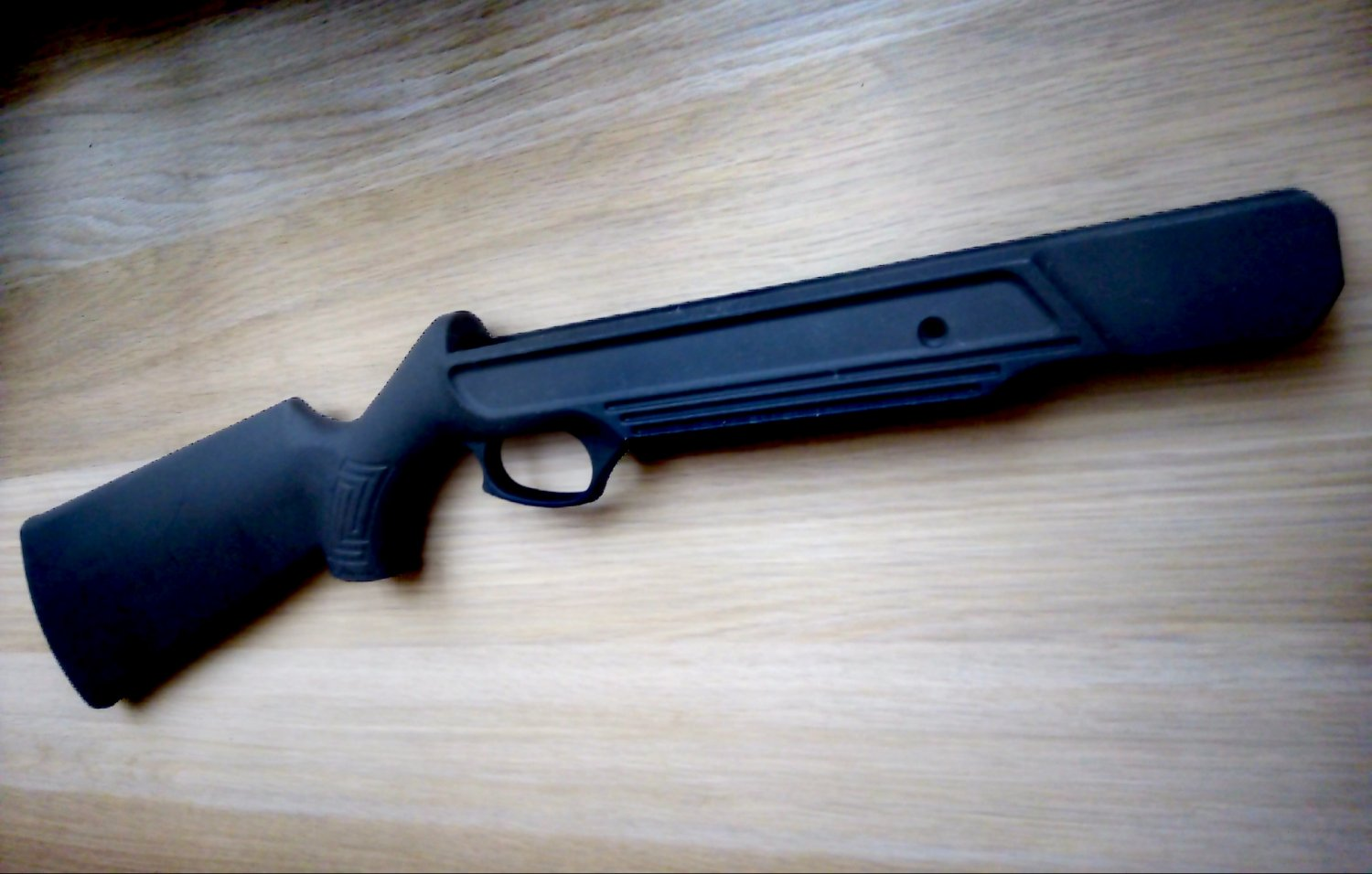 mp-512 butt stock of improved design baikal with more even shape made from reinforsed plastic.