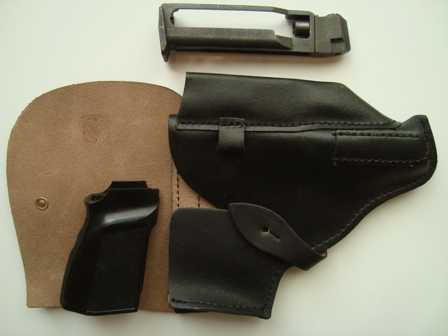 MP-654K holster of leather, handle ergonomic, screw for grip, tuning Baikal parts original PMM style