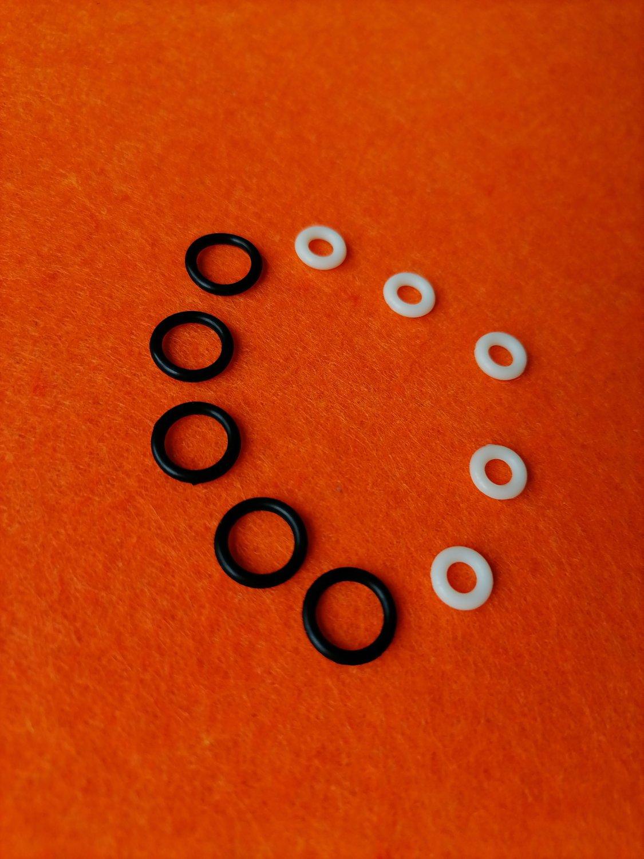 Sealing O-rings magazine mp-654k, mp-661k drozd, blackbird saddle of valve, repair kit made to order