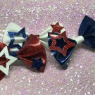 Red, White, or Blue 4th of July Bows