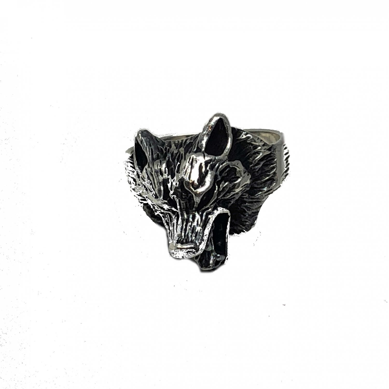 Handmade 925 Sterling Silver Howling Wolf Ring