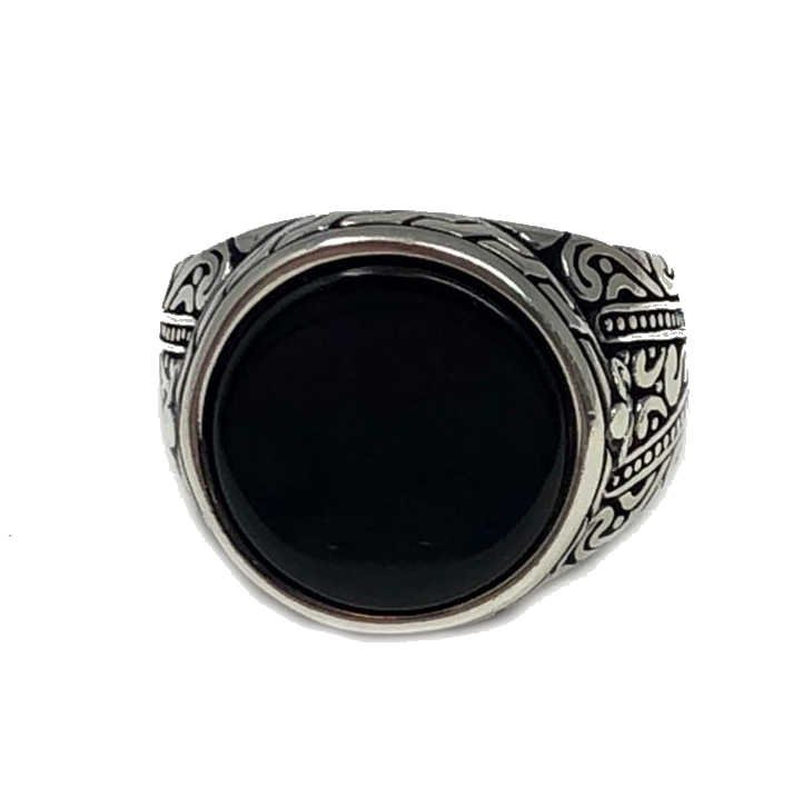 Handmade 925 Sterling Silver Onyx Stone  Ring