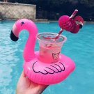 Inflatable Flamingo Drink Holder Pool Party Can Toy Floating Bath Learn Swim New