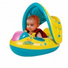 Baby Kids Swimming Ring Portable Summer Safety Inflatable Sunshade Float Water