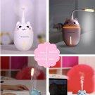 3 in 1 USB Air Humidifier Aroma Lamp Oil Diffuser Mist Fogger LED Light Mini Fan