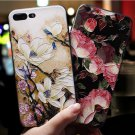 Phone Case For Iphone 6 6S 7 8 Plus X XS XR 3D Relief Floral Silicon Cover Women