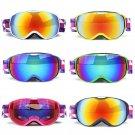 Kids Ski Snowboard Goggles Dual Lens Pro Anti Fog Mask Glasses For Girls Boys Uv