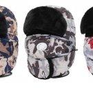 Winter Bomber Hat For Men Women Ski Mask Warm Camouflage Trapper Fur Aviator Ear