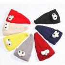 Children Kids Winter Hat Warm Knitted Cute Cartoon Wizard Eye Curled Knit Beanie