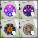 Gaming Mouse Pad Art Vintage Non Slip Rubber Mat Round Shape PC Table Decor Rug