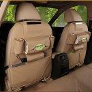 Car Back Seat Organizer Storage Bag Travel Leather Multi Pocket Auto Holder Box
