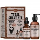 DELUXE Pre Shave Oil and After Shave Oil Smooth Groom Total Shave Kit for all...