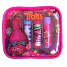 Dreamworks Trolls Childrens Girls Lip Balm Set of 4 Flavours In Zip Bag