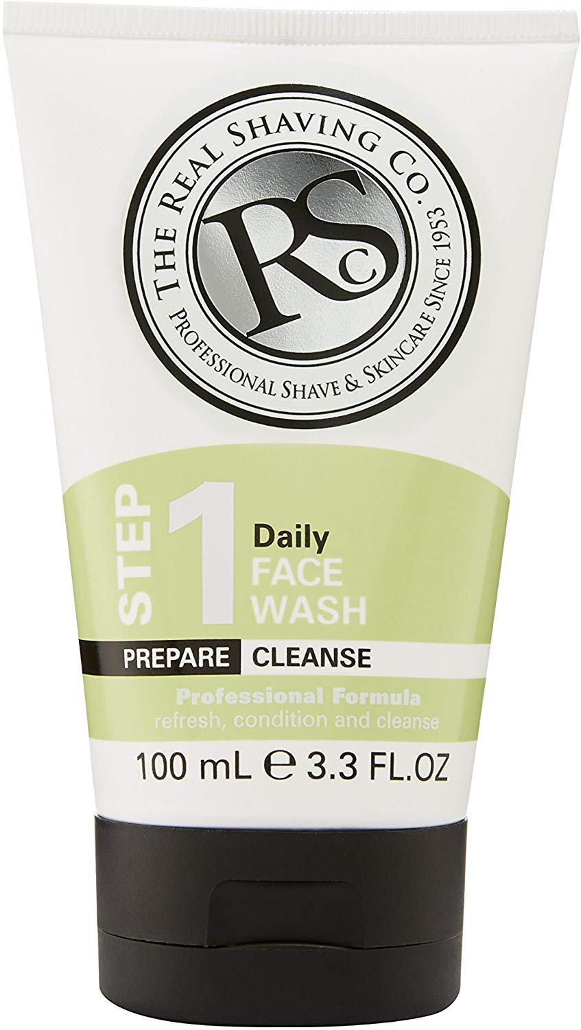 The Real Shaving Company Step 1 Daily Face Wash (Prepare|Cleanse) 100ml / 3.3 fl oz