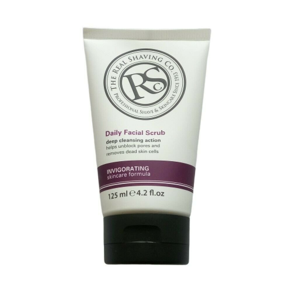 The Real Shaving Company Daily Facial Scrub, Invigorating Skincare Formula 125ml (4.2 fl oz)