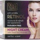 Dead Sea Collection Anti Wrinkle Retinol Night Cream, 1.69 fl oz (50ml) With Dead Sea Minerals